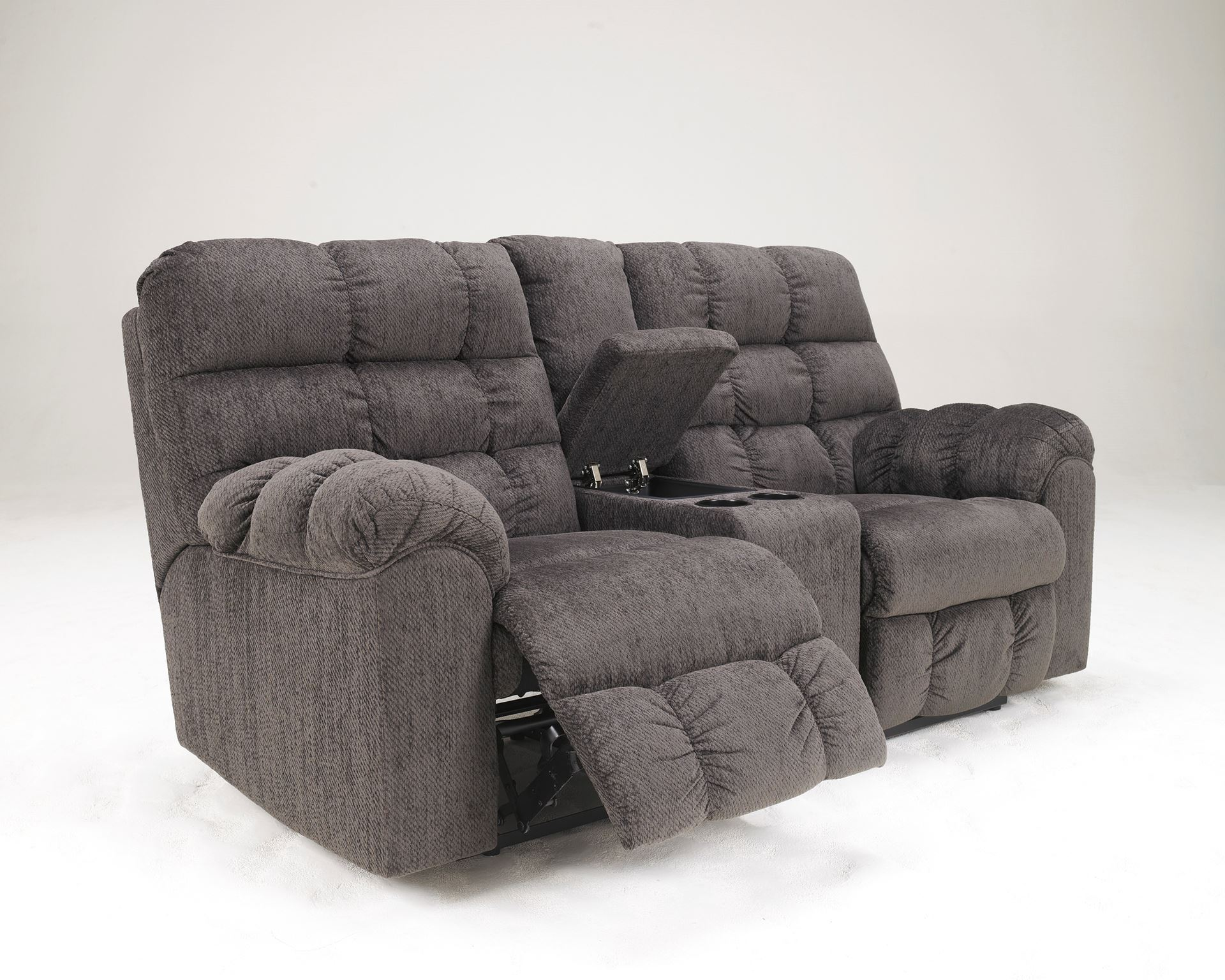 Acieona Double Reclining Loveseat With Console